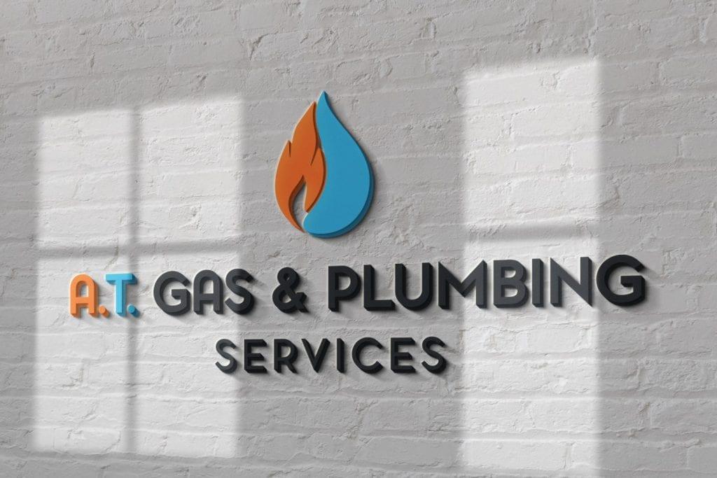 A.T Gas & Plumbing Services Logo Design