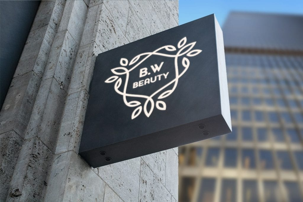 B.W Beauty Logo Design