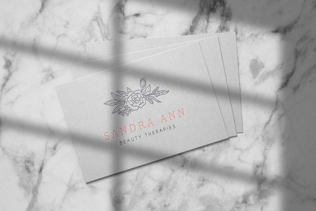 Sandra Ann Beauty Therapies Logo Design